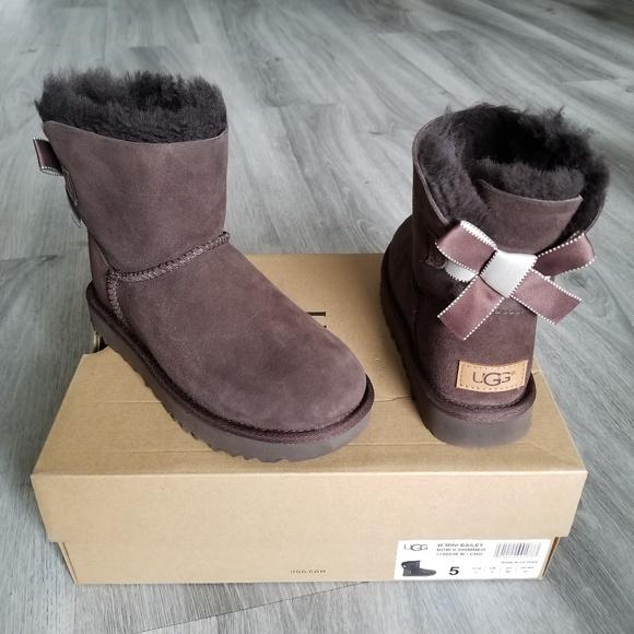 afd37794b99 UGG Mini Bailey Bow II Shimmer Boots. NWT